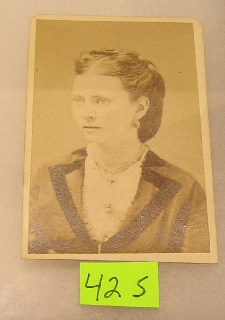 Early photograph of a well dressed woman