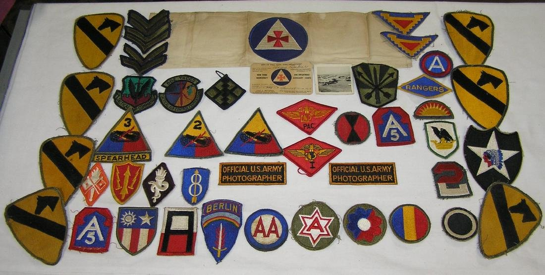 WWII military veterans patch collection