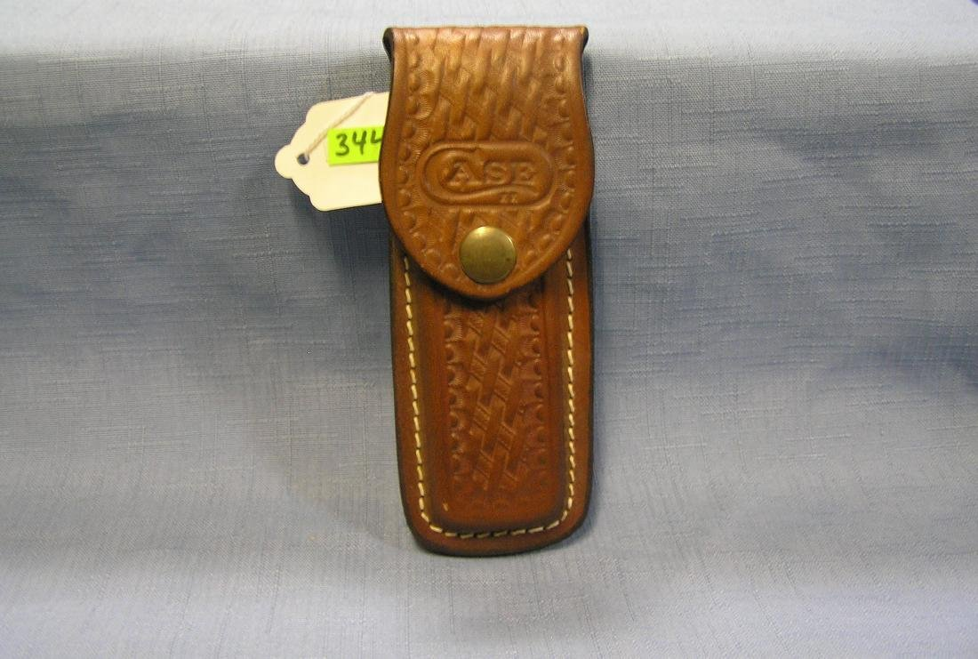 Vintage leather knife case
