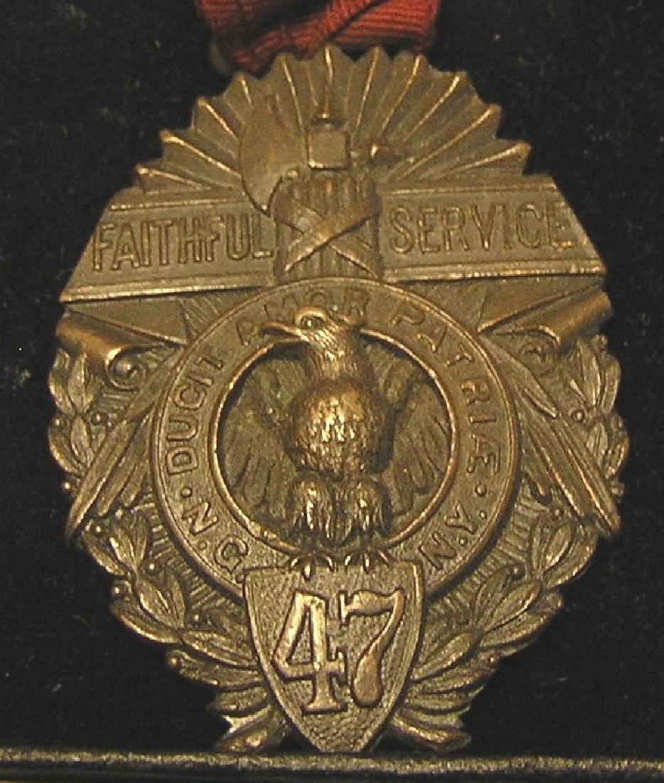 WWI faithful service bronze award medal - 2