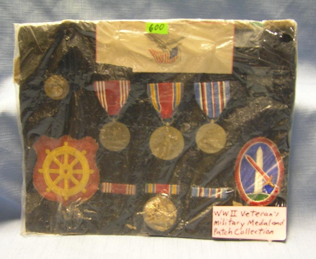 WWII Mil veterans medal and patch collection