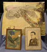 Group of three vintage military collectibles