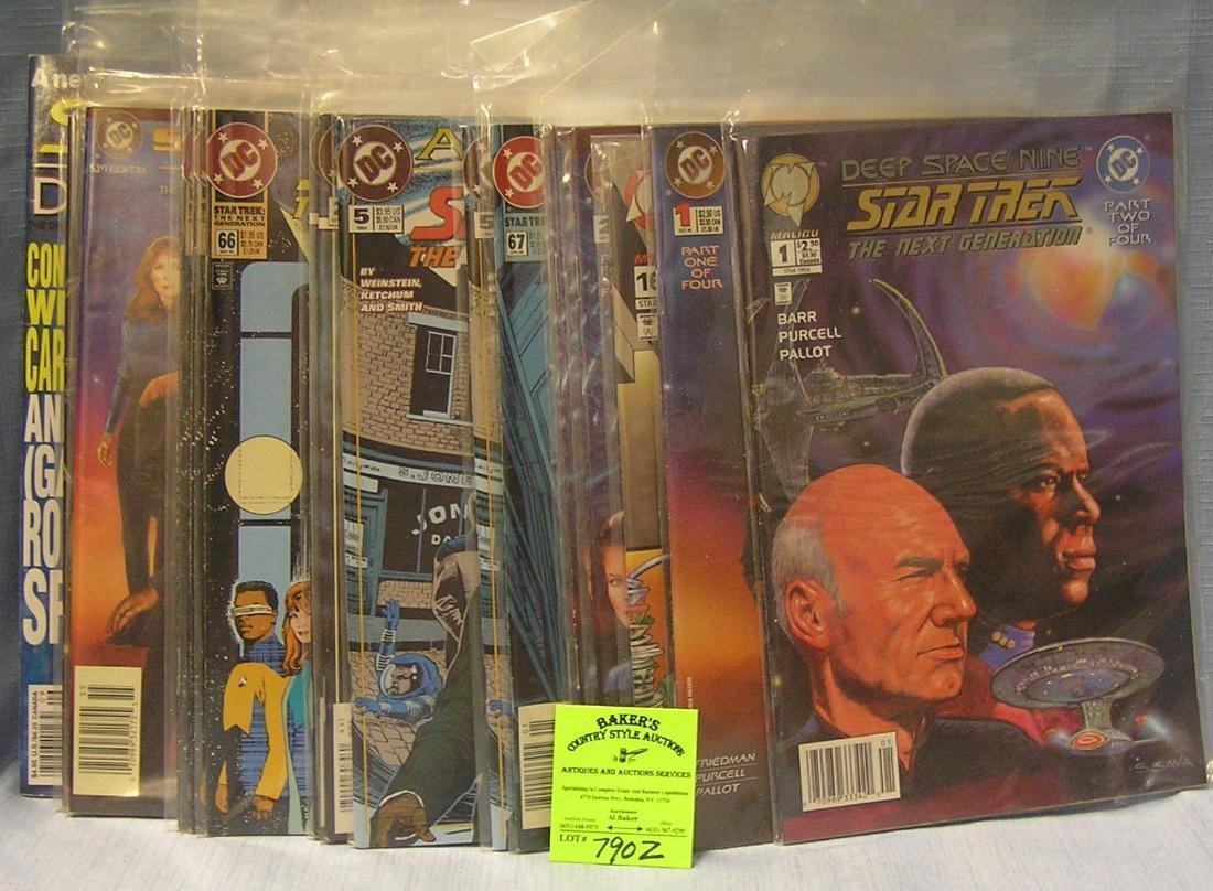 Large group of vintage Star Trek comic books