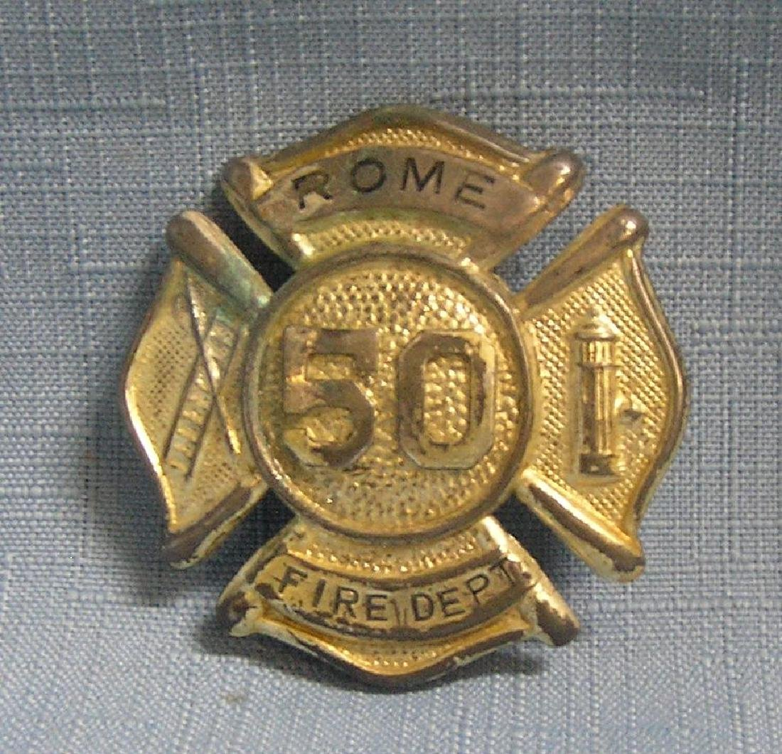 Early Rome F.D. fire badge