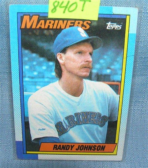 Vintage Randy Johnson Rookie Baseball Card Dec 24 2018