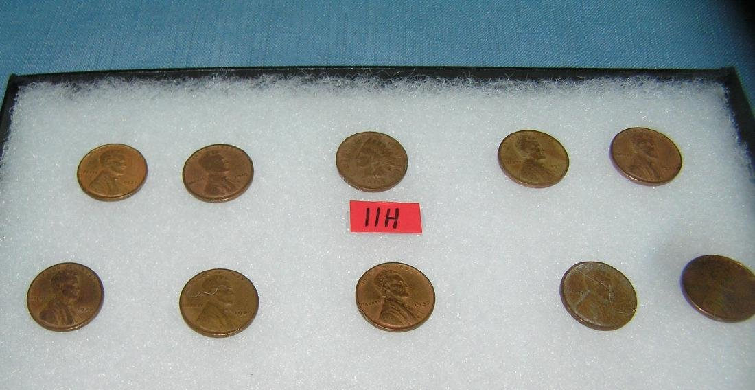 Group of early Lincoln pennies with 1 Indian head penny