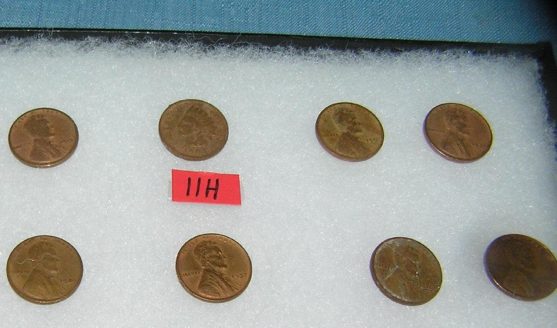 Group of early Lincoln pennies with 1 Indian head penny - 2