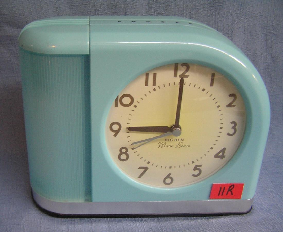 Big Ben moon beam deco style electric alarm clock