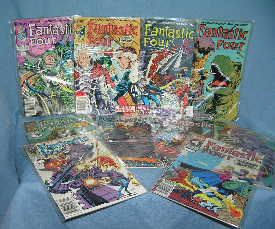 Collection of vintage Fantastic 4 Marvel comic books