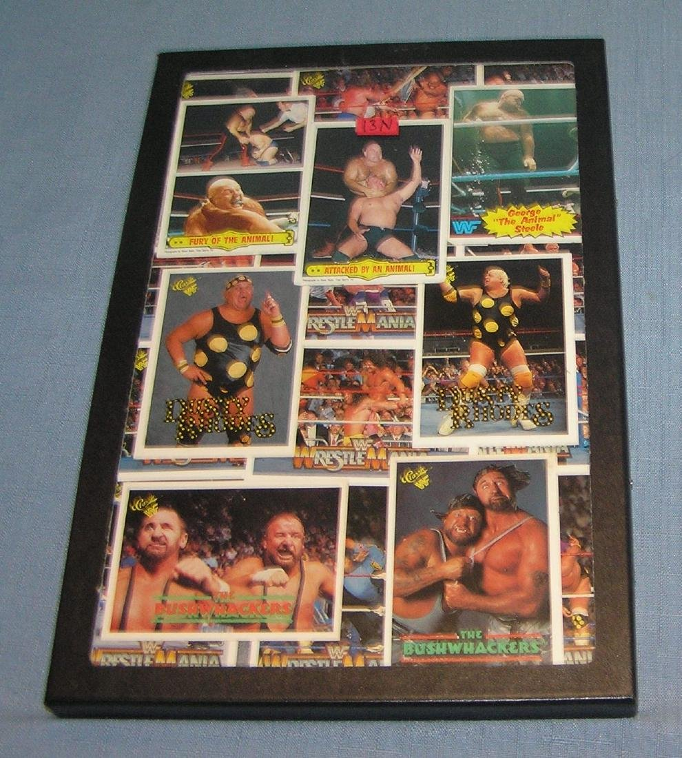 Collection of vintage wrestlemania cards