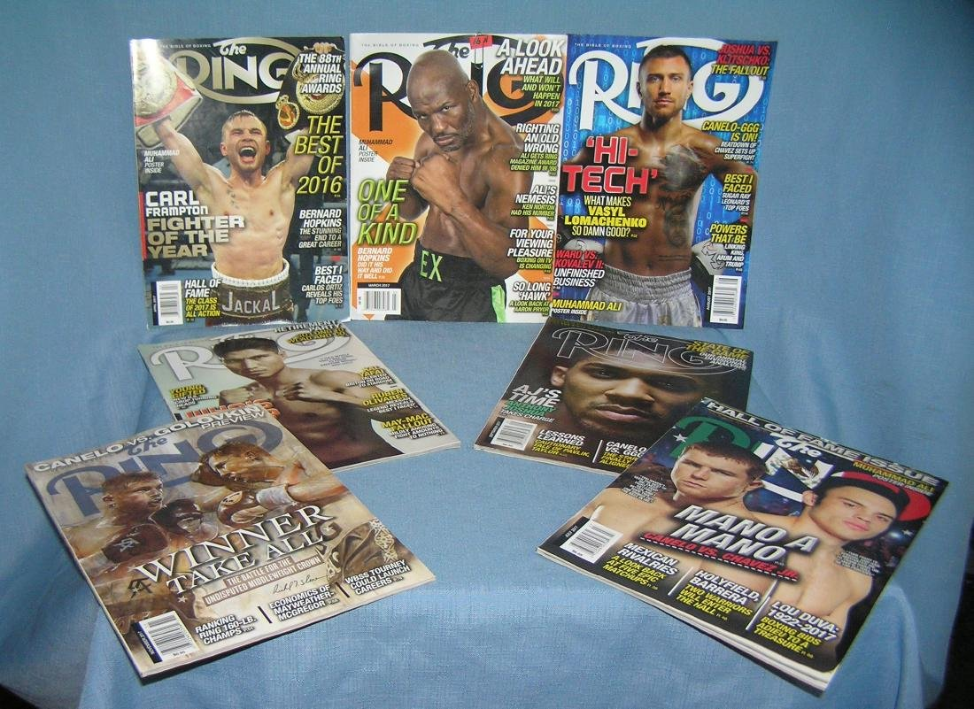Group of modern Ring boxing magazines
