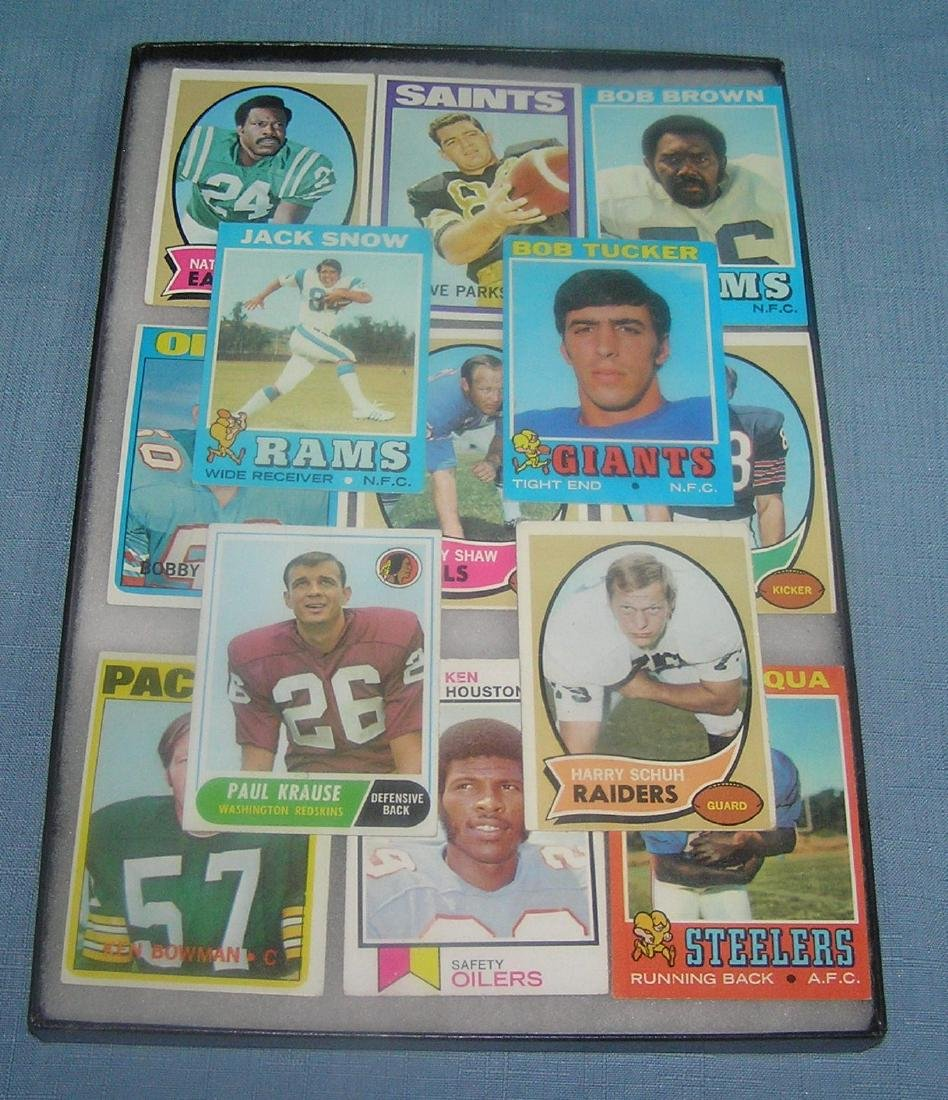 Group of early football cards