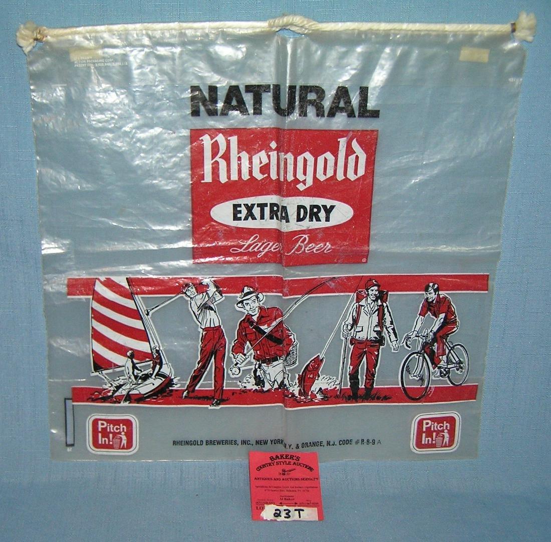 Vintage 1950's Rheingold extra dry advertising beer bag