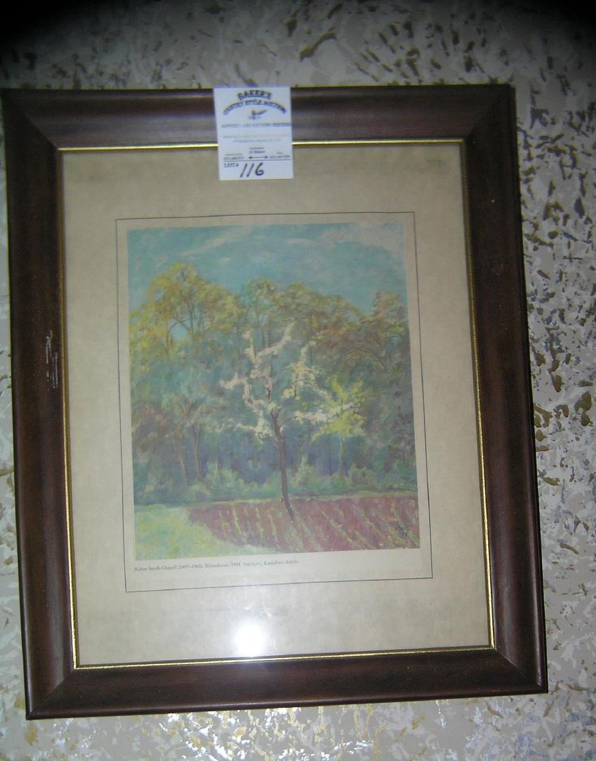 Matted and framed antique print