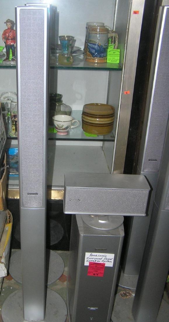 6 pc. Panasonic surround sound speaker system - 4