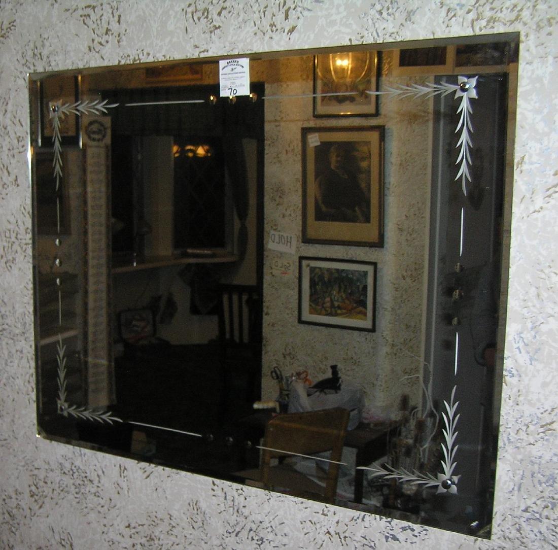 Great vintage 1950's Midcentury wall mirror