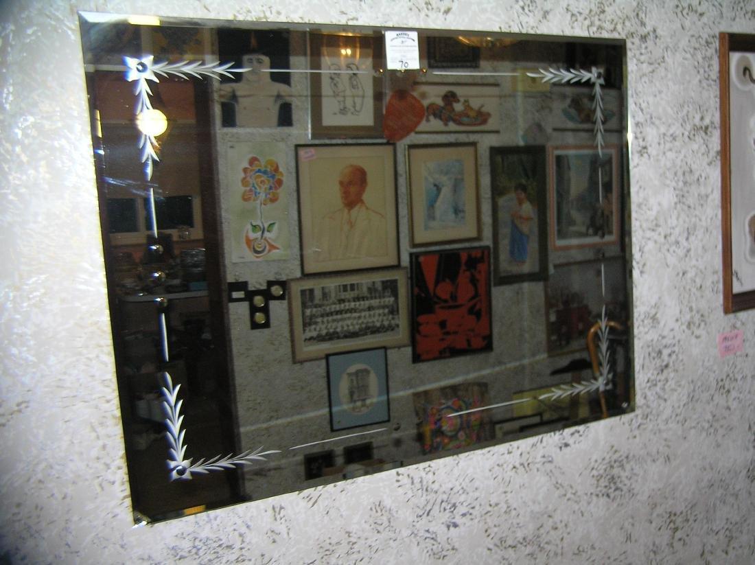 Great vintage 1950's Midcentury wall mirror - 3