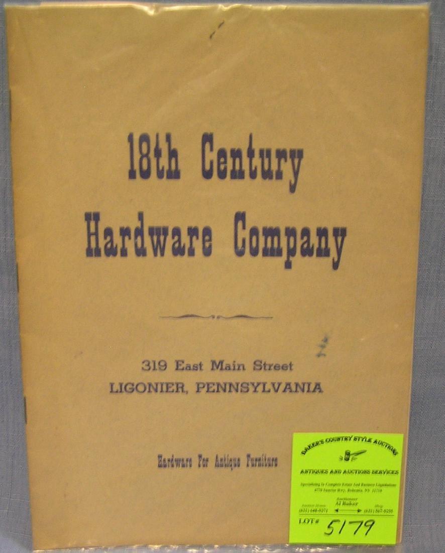 18th Century hardware company catalog