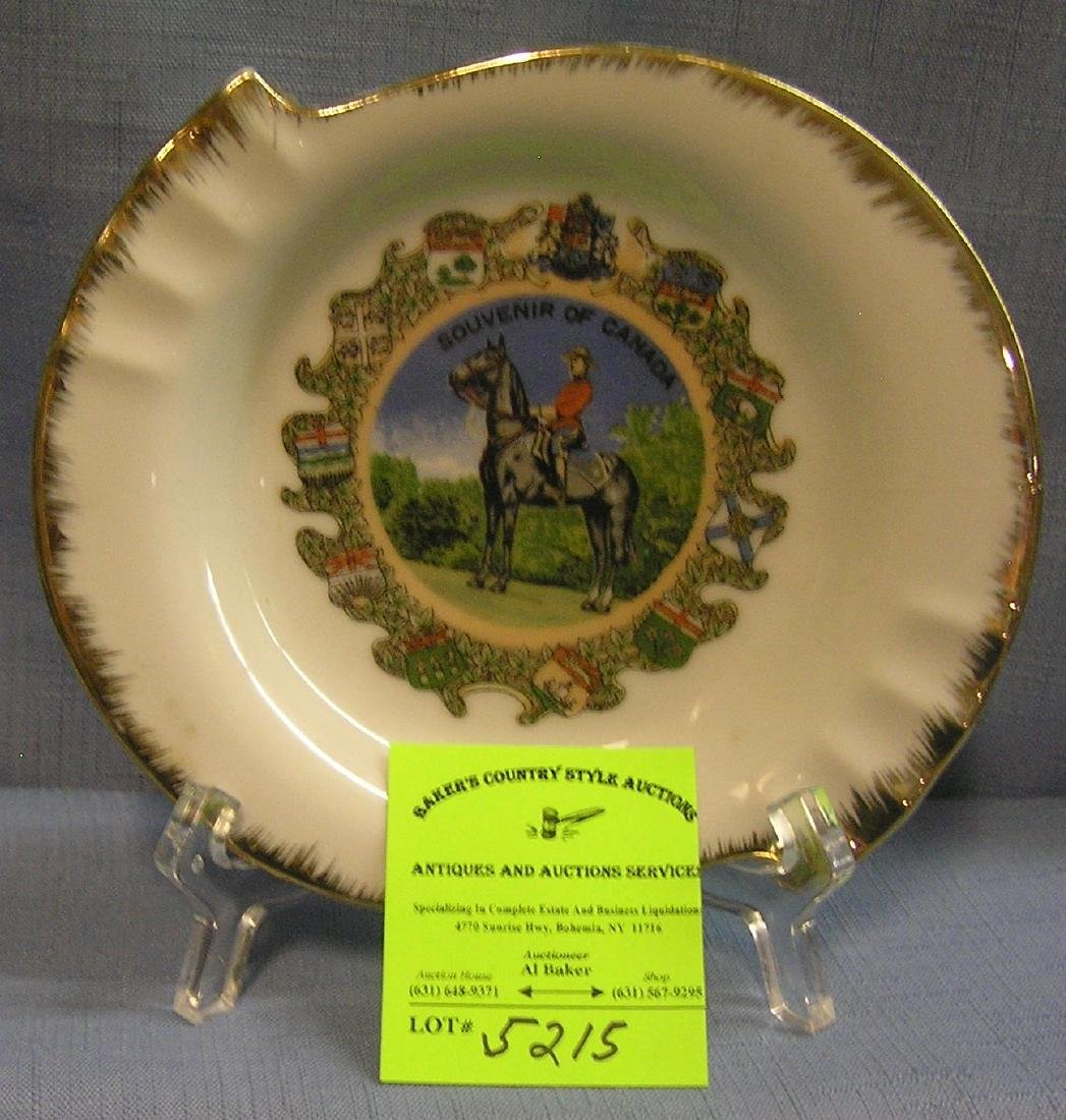 Royal Canadian mounted police souvenir dish