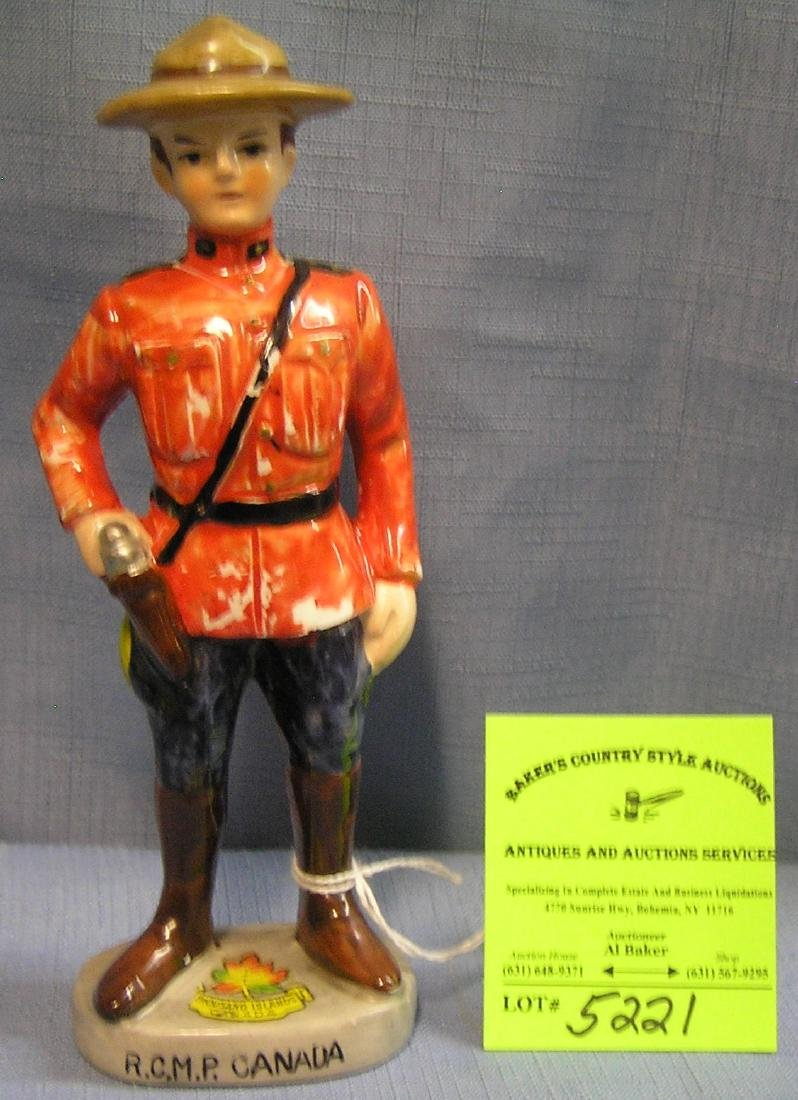 Royal Canadian mounted policeman figure