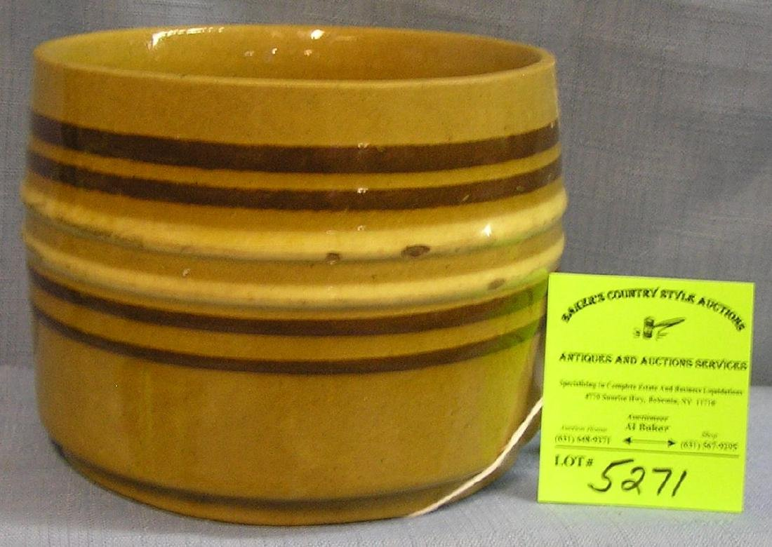 Early stoneware multi banded bowl