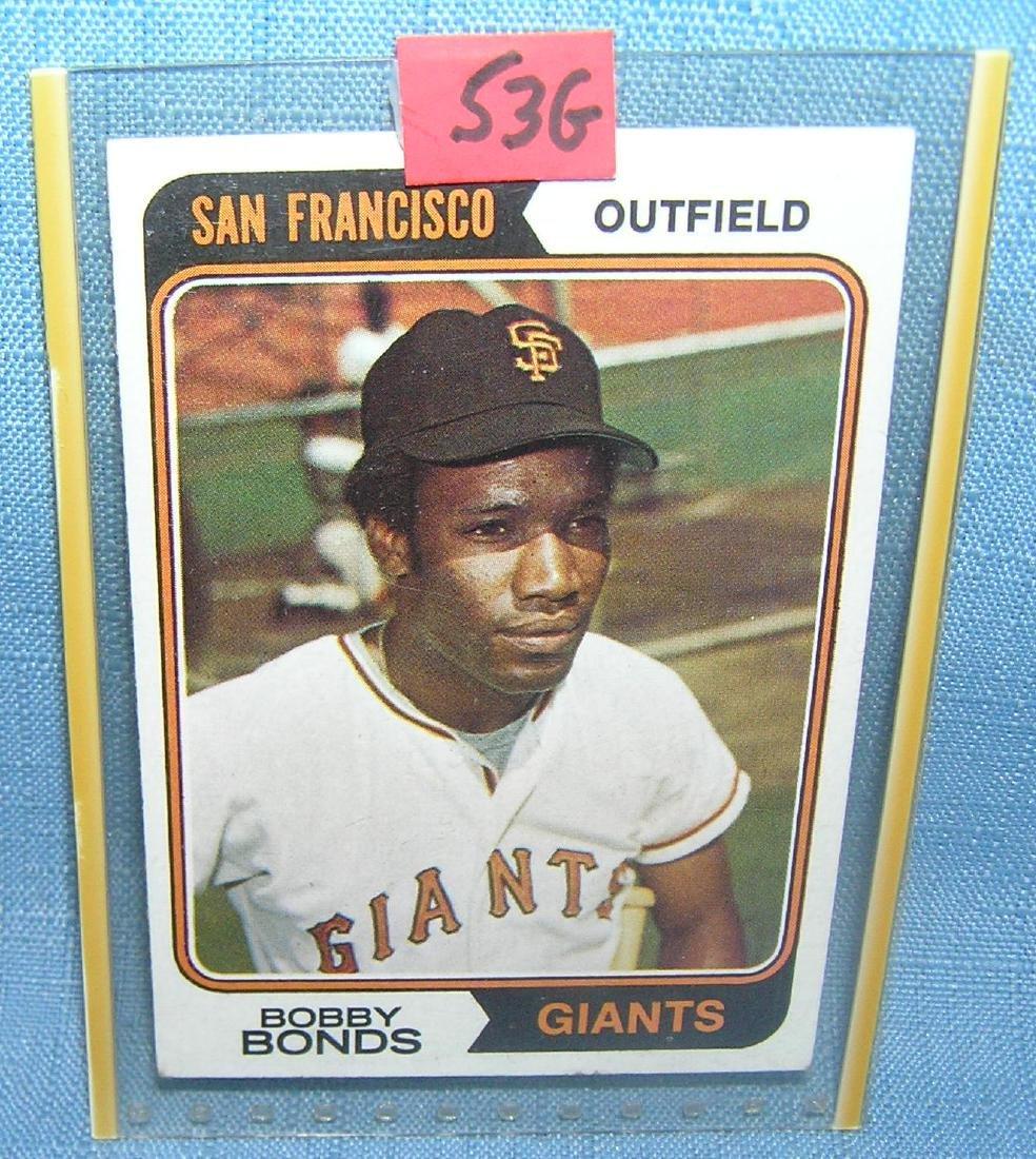 Early Bobby Bonds baseball card by Topps
