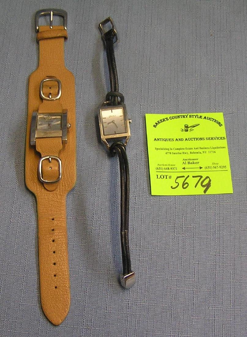 Pair of vintage designer wrist watches
