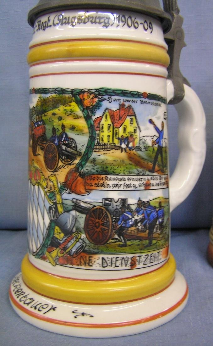 Group of 5 vintage beer steins - 2