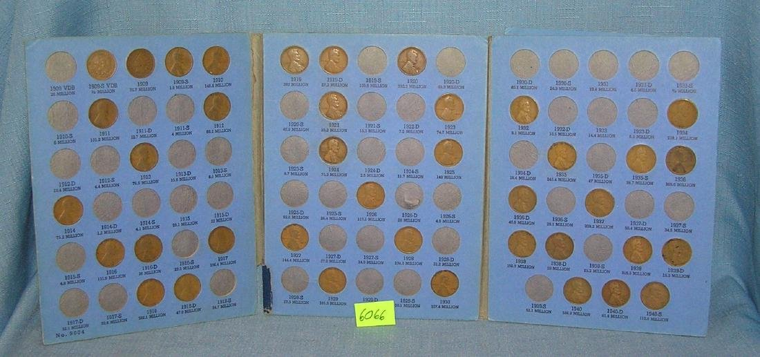 Collection of vintage Lincoln pennies in collectors - 2