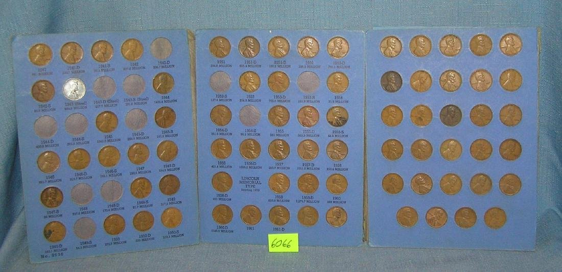 Collection of vintage Lincoln pennies in collectors - 3