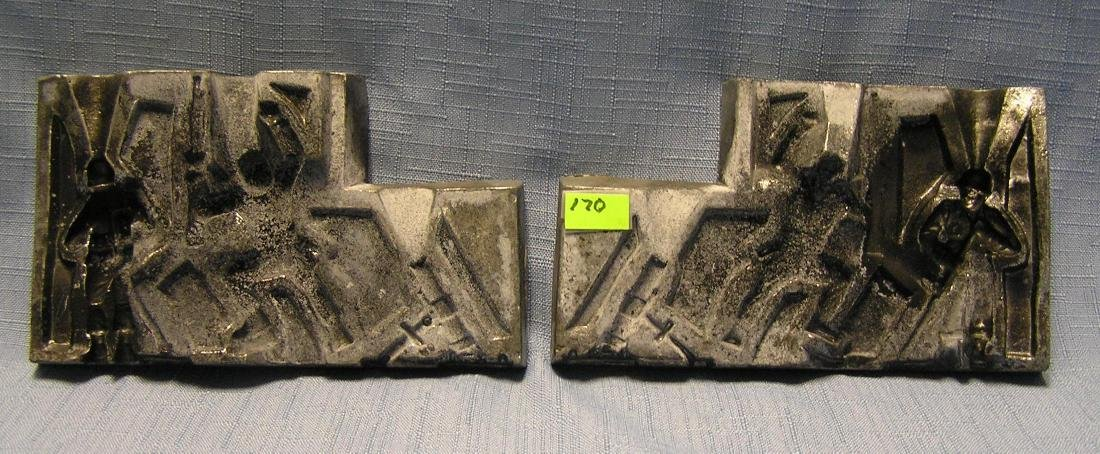 Larger antique toy soldier casting mold