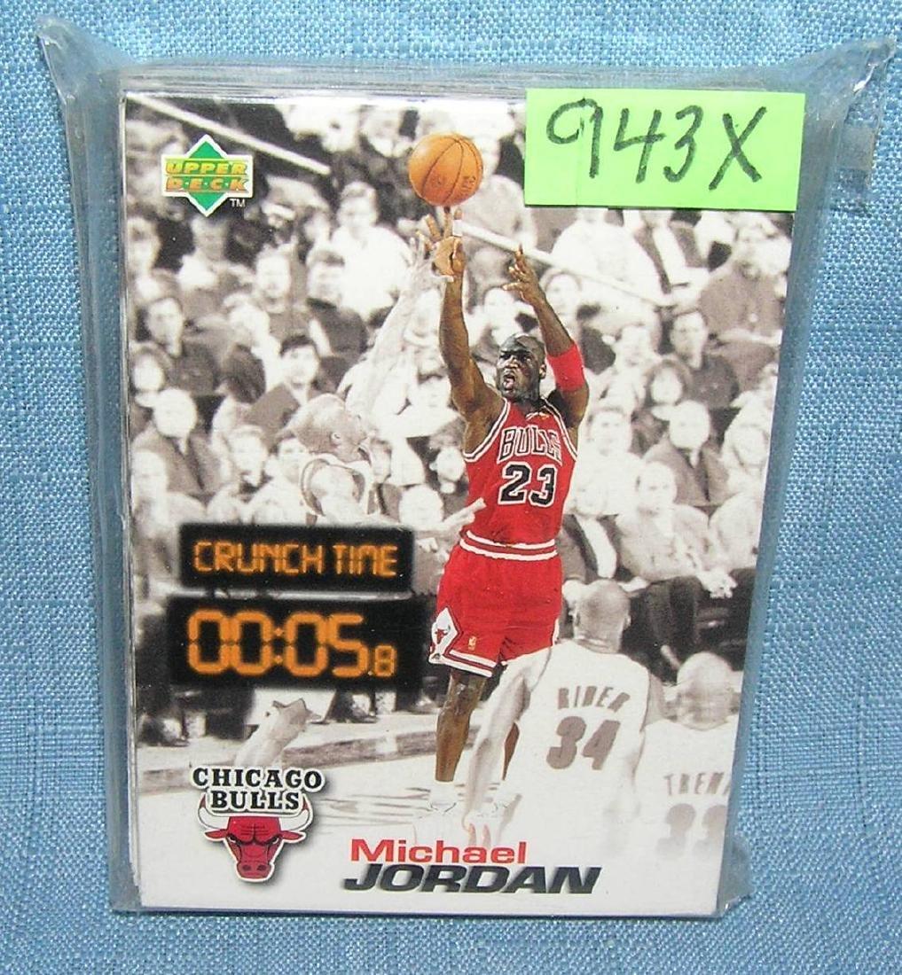 Basketball card set featuring Michael Jordan