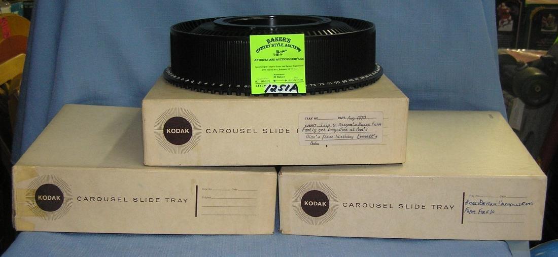 Vintage Kodak carousel slide tray turntables