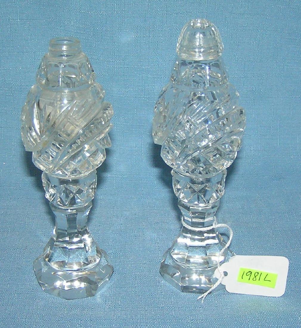 Early crystal salt and pepper shaker set