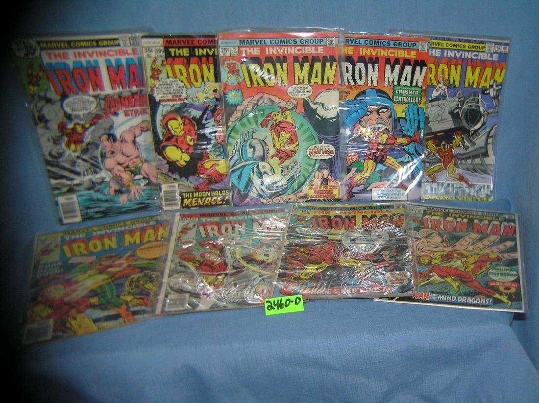 Group of early Ironman comic books