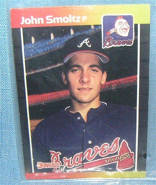 Vintage John Smoltz All Star Rookie Baseball Card Jan 25