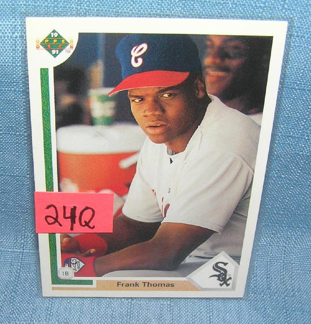 Frank Thomas Rookie Baseball Card Jan 25 2019 Bakers Antiques