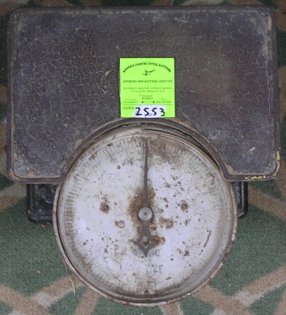 Antique floor scale