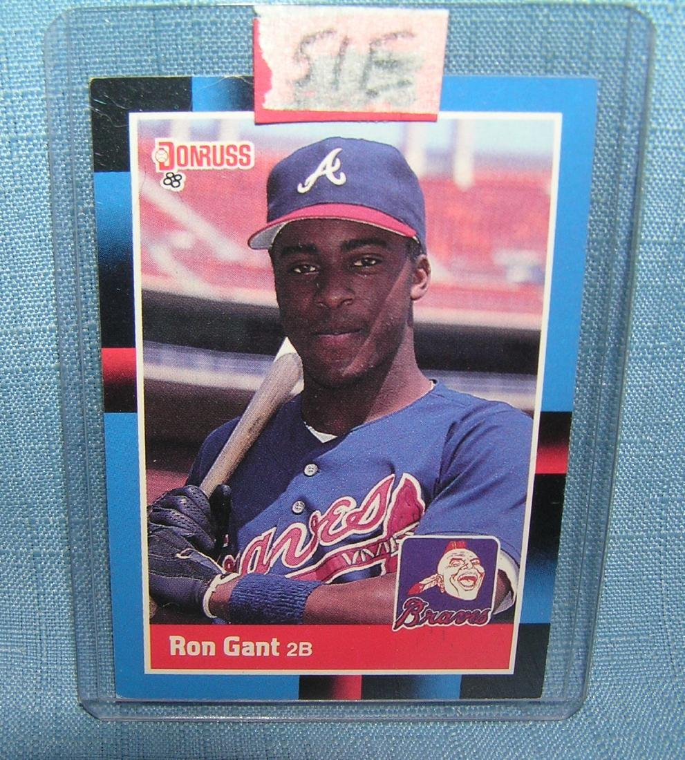 Ron Gant Rookie Baseball Card Feb 02 2019 Bakers Antiques And