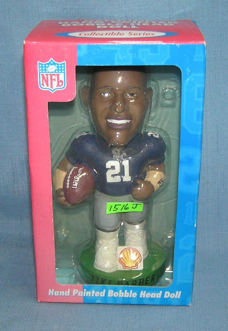 Tiki Barber football bobble head doll
