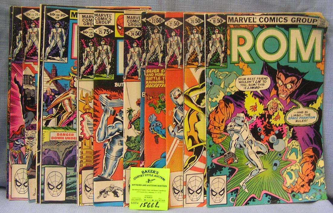 Large group of vintage Marvel ROM comic books