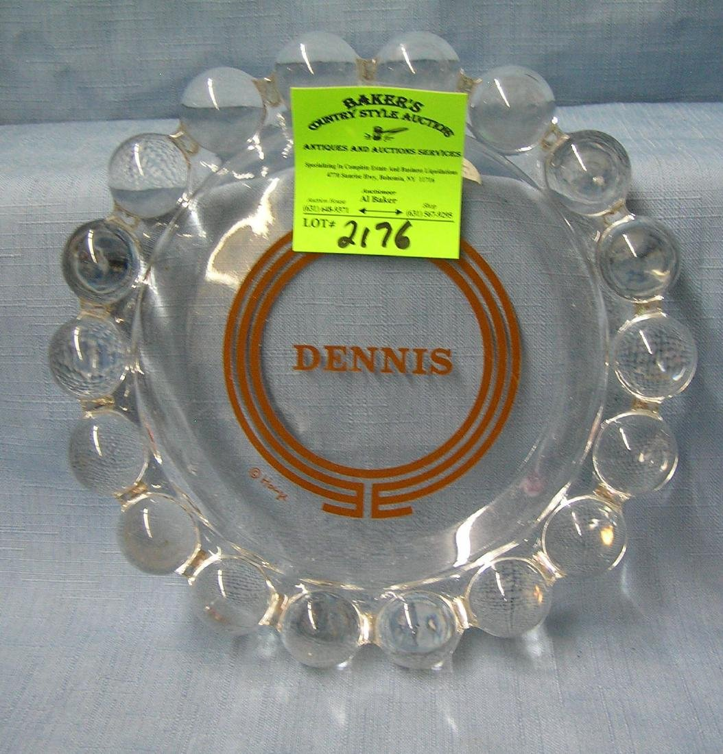 Dennis name decorated ash tray/candy dish