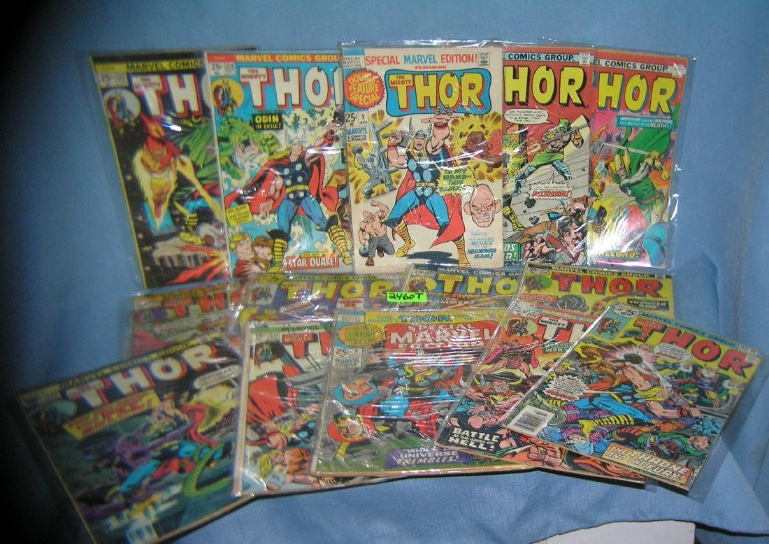Collection of early Thor comic books