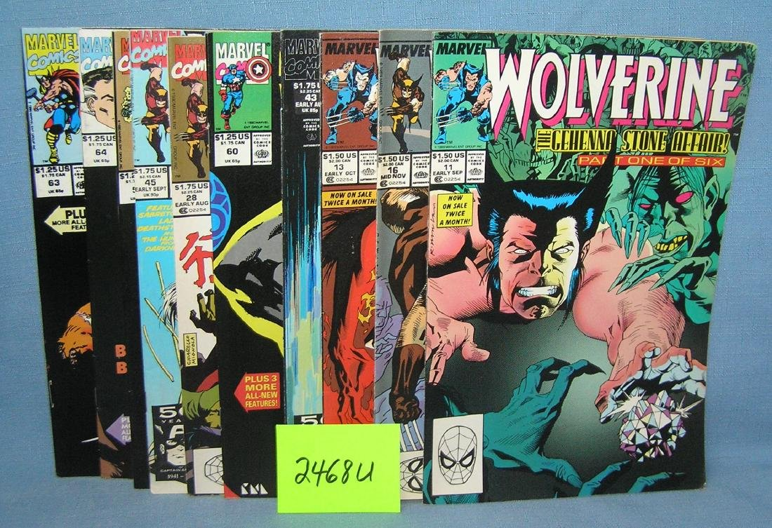 Vintage Marvel Wolverine comic books