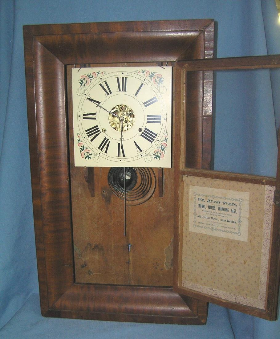 Antique reverse painted shelf clock - 5