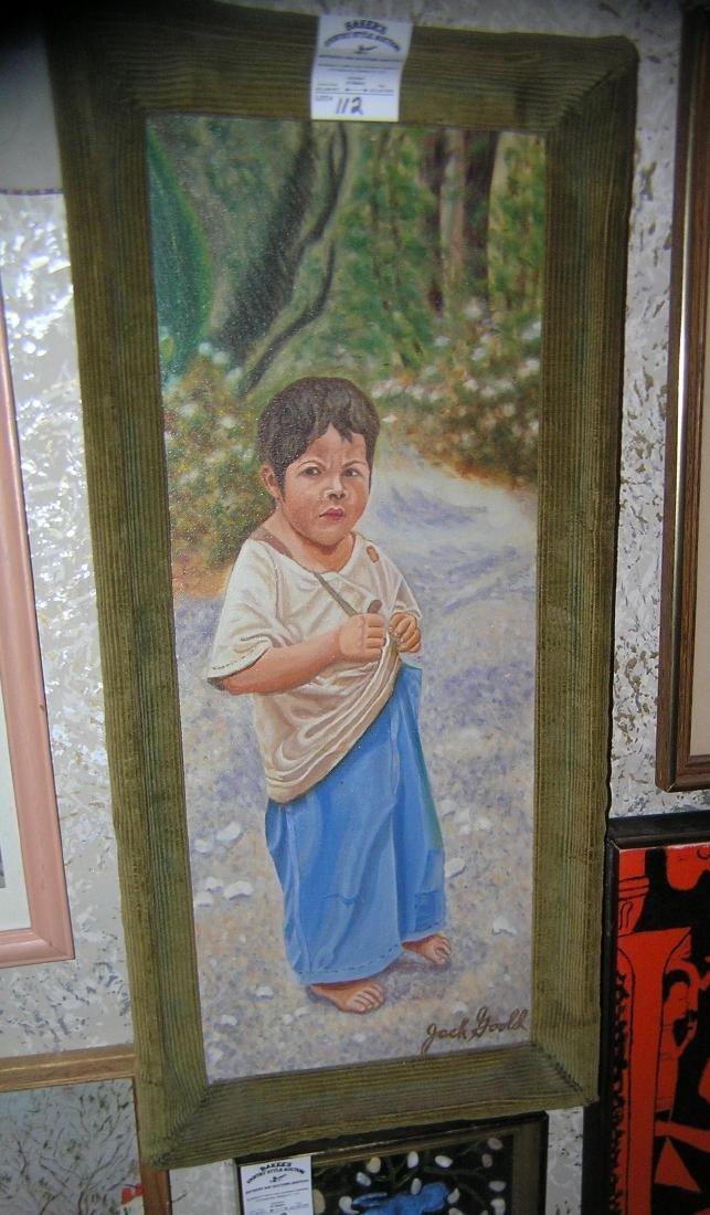 Oil on canvas original art, framed