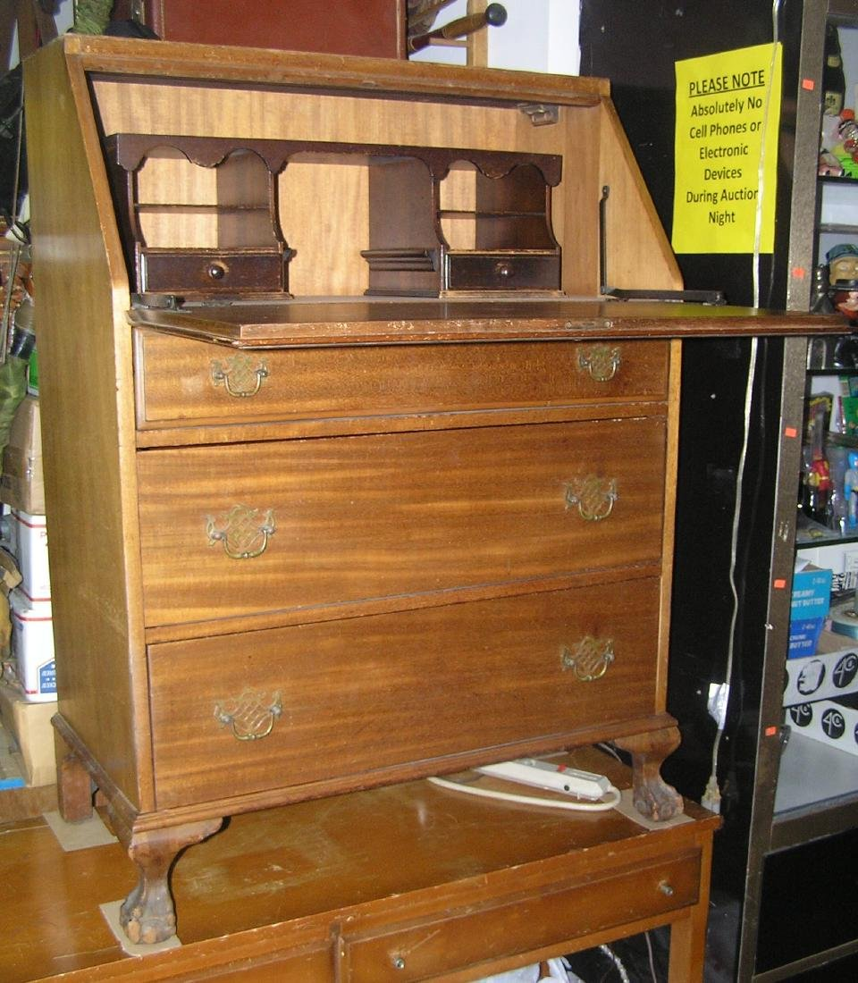 Antique Governor Winthrop drop front desk - 7