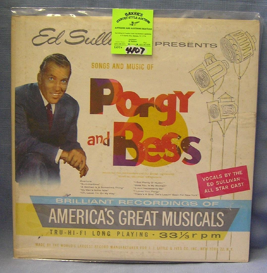 Ed Sullivan Songs And Music Porgy And Bess record
