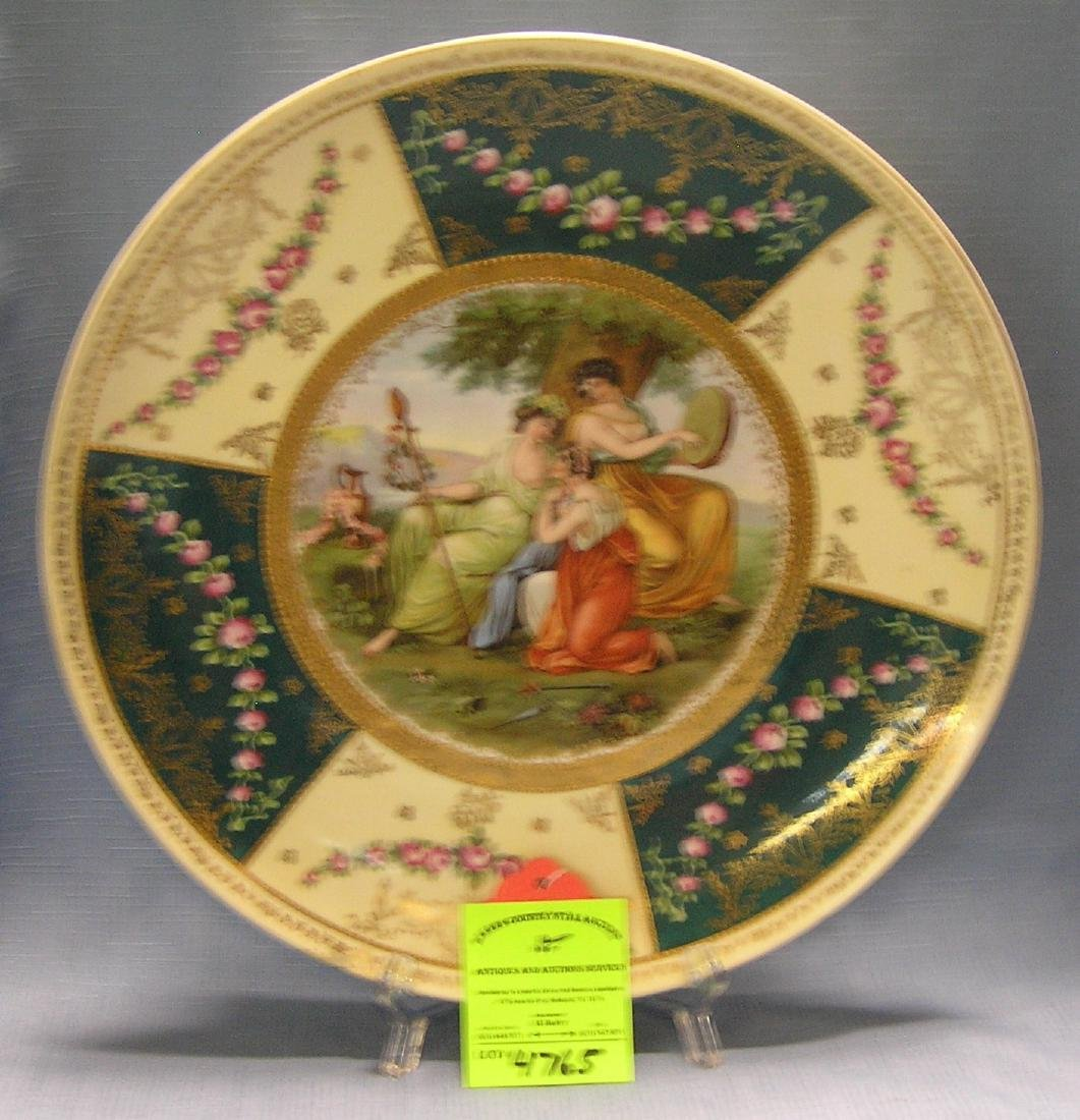 Large Victorian decorated serving platter