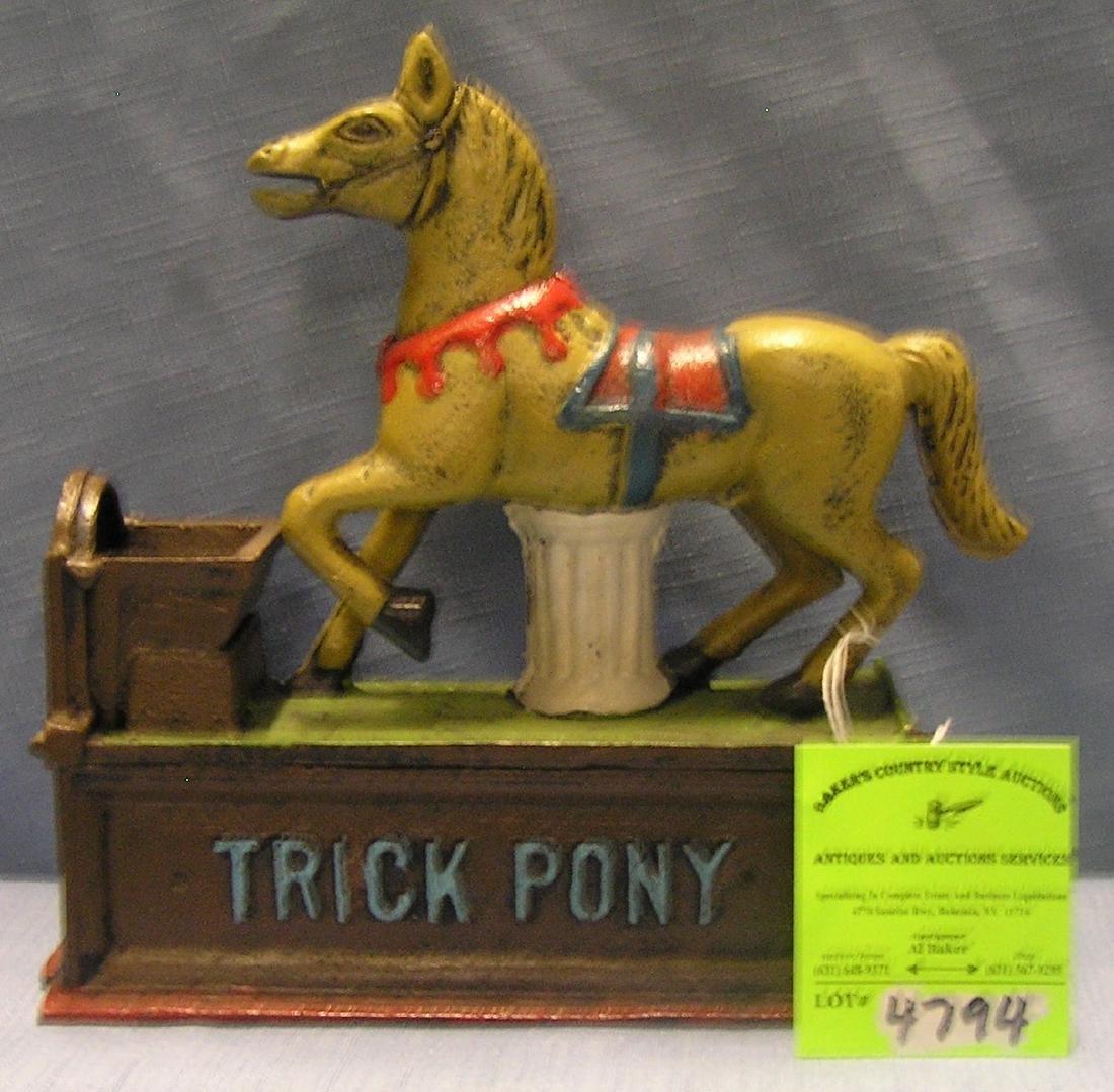 Trick Pony mechanical bank